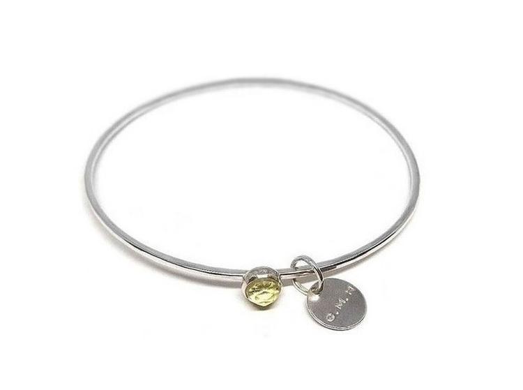 Lemon kvarts armband silver
