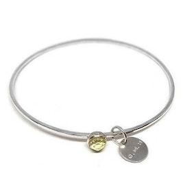 Lemon kvarts kristall armband silver