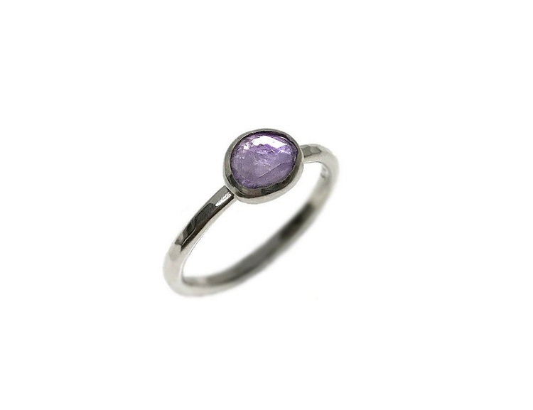 Ametist ring silver