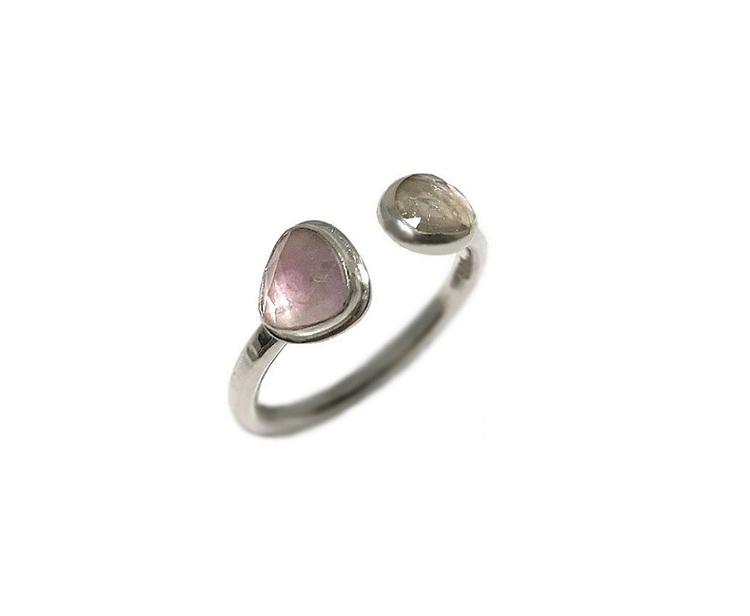 Ring med turmalin stenar silver