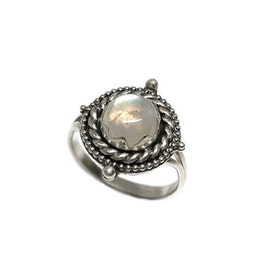 Månsten ring silver