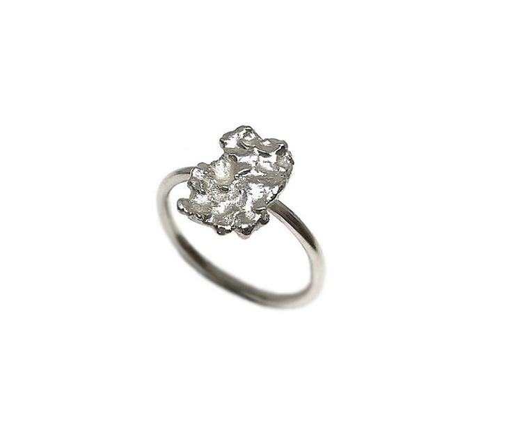 Nugget ring silver