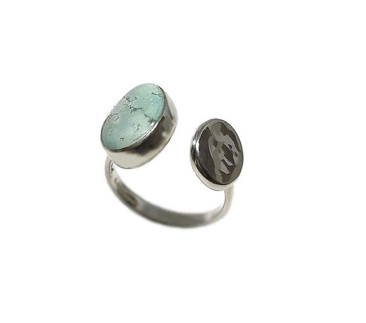 Silver ring turkos