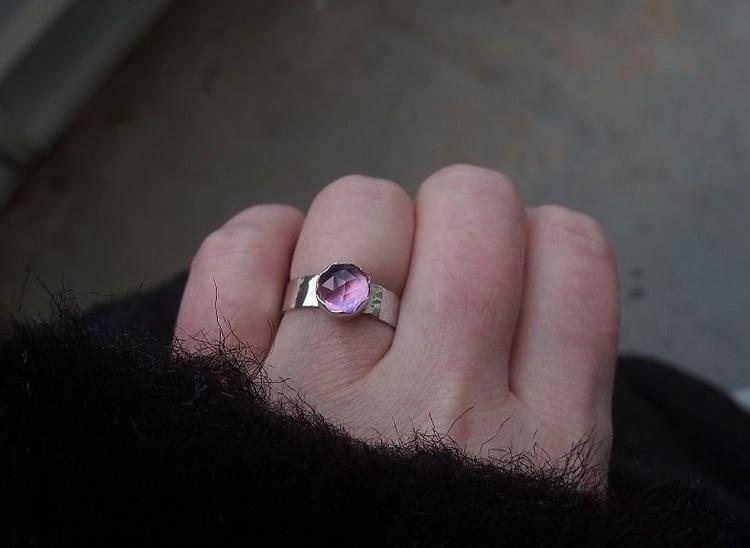 Safir ring äkta silver