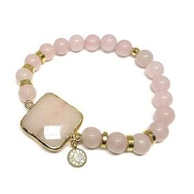 Rosa Jade armband