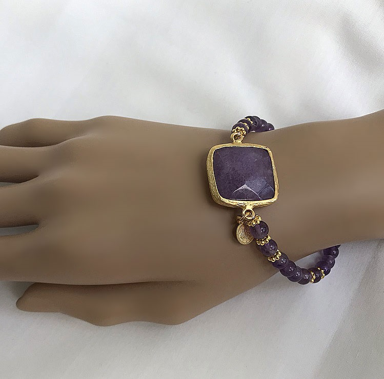 Armband lila jade
