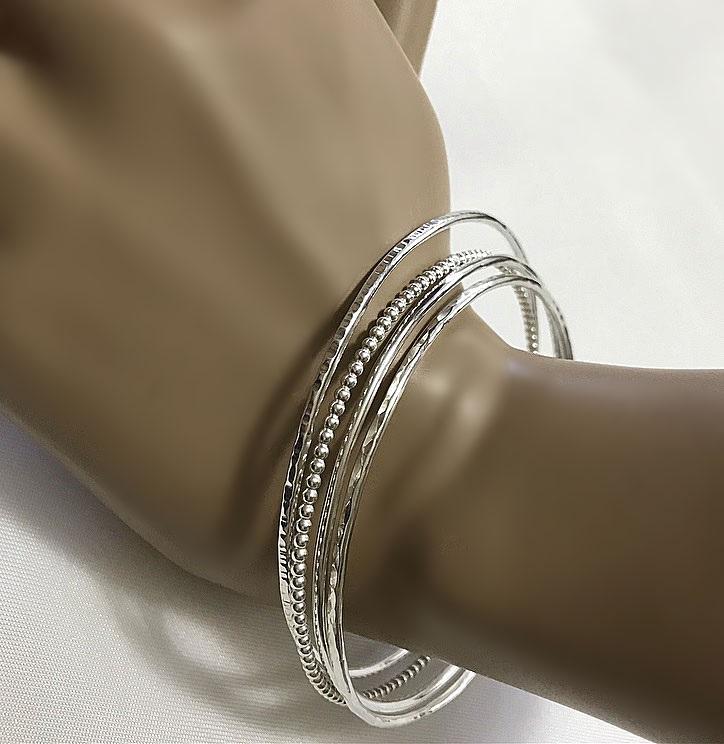 Mixade bangle armband i silver