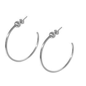 Creolörhängen silver