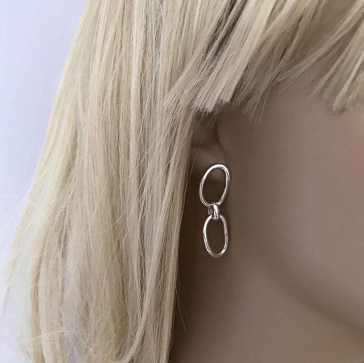 Släta kedjeörhängen äkta silver