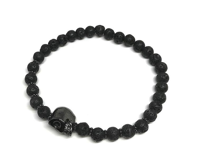 Armband svarta lavastenar