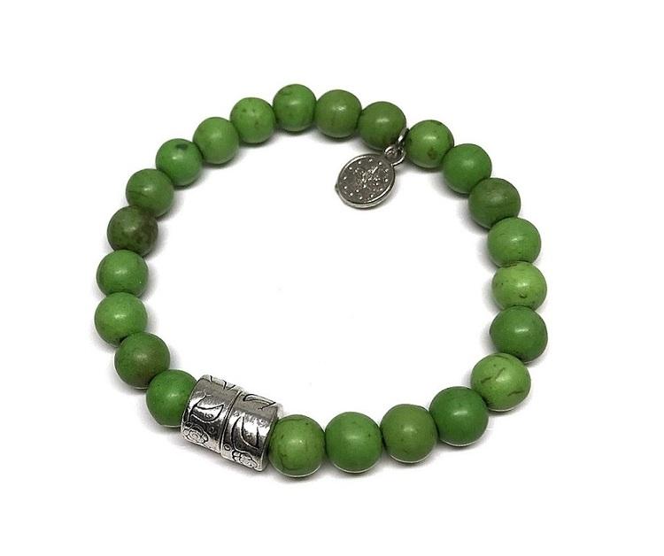 Armband gröna pärlor