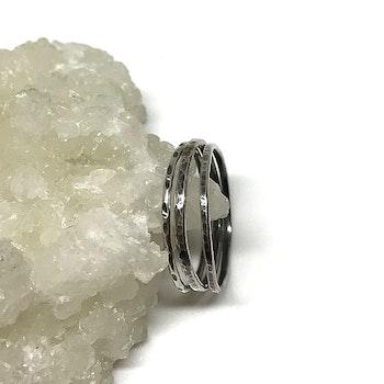 Mönstrade silverringar