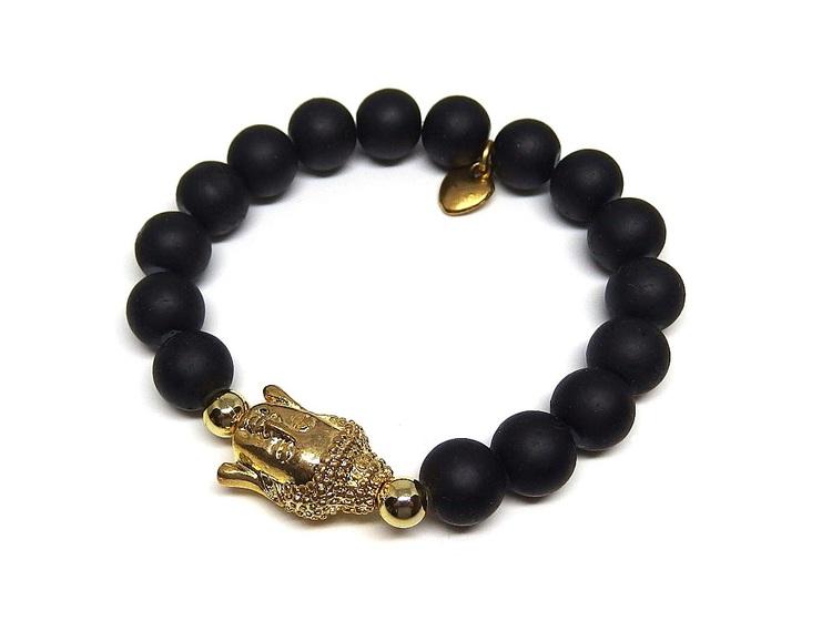 Buddha armband svart