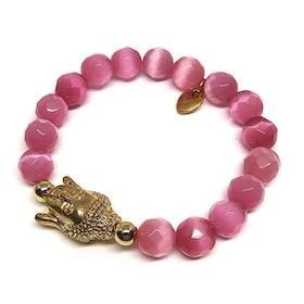 Rosa Buddha armband