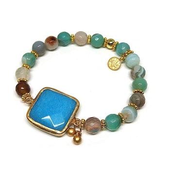 Armband jade och agat