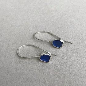 Silverörhängen blå Sjöglas