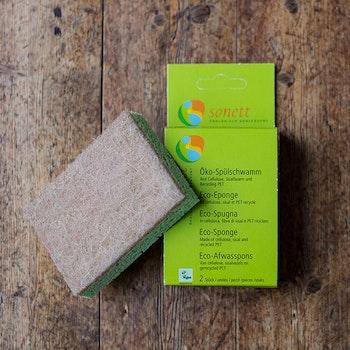 Disksvamp av naturmaterial, 2-pack