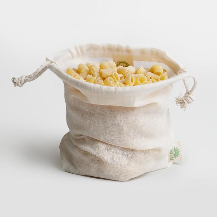 Tät flergångspåse i GOTS-certifierad bomull