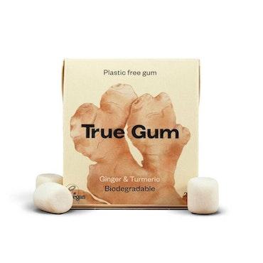 True Gum plastfritt tuggummi Ingefära & Gurkmeja