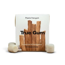 True Gum plastfritt tuggummi Lakrits & Eukalyptus