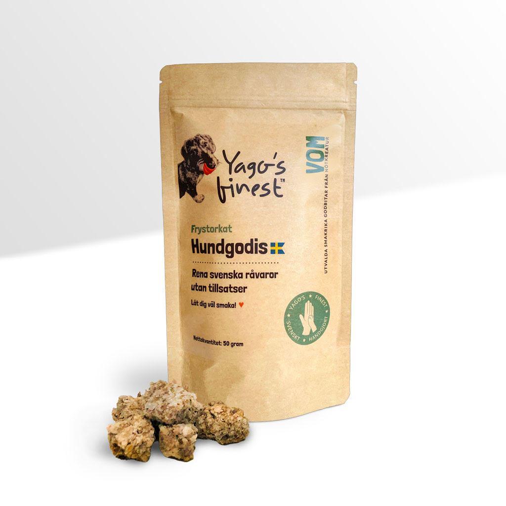 Yago's finest frystorkat svenskt hundgodis VOM