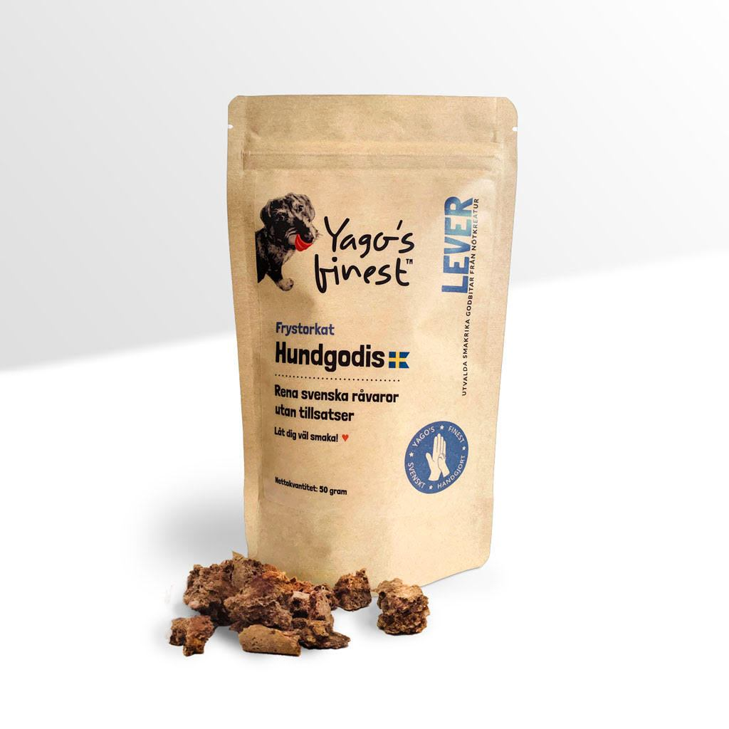 Yago's finest frystorkat svenskt hundgodis LEVER