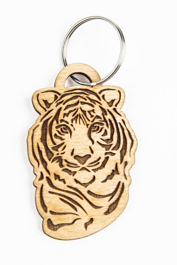 Nyckelbricka tiger
