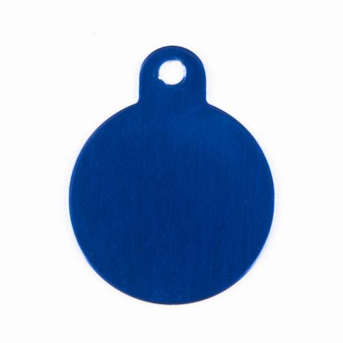 Rund blå