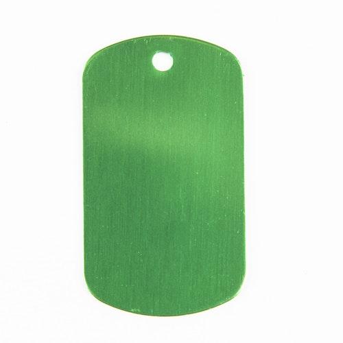 Dog tag grön