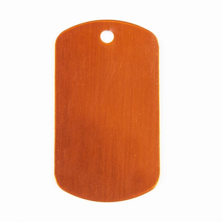 Dog tag orange