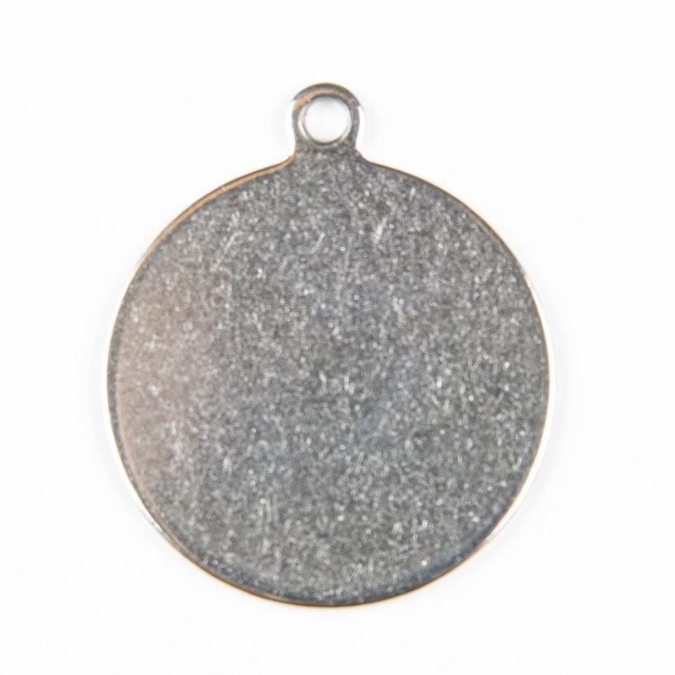 Rostfri rund med ögla 25mm