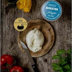 Burratina med oliver & tomater - för 2 personer