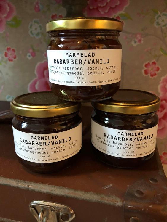 Marmelad Rabarber/vanilj