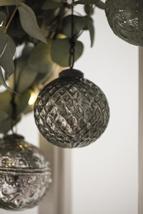 Julkula harlekinmönster silver