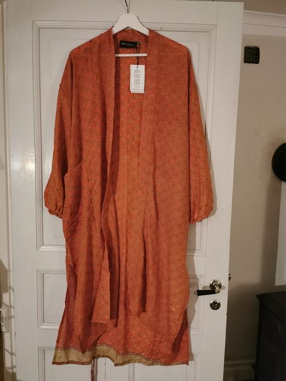 Kimono lång orange