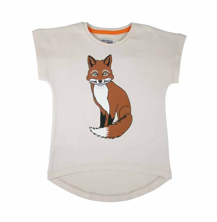 T-shirt med rävprint