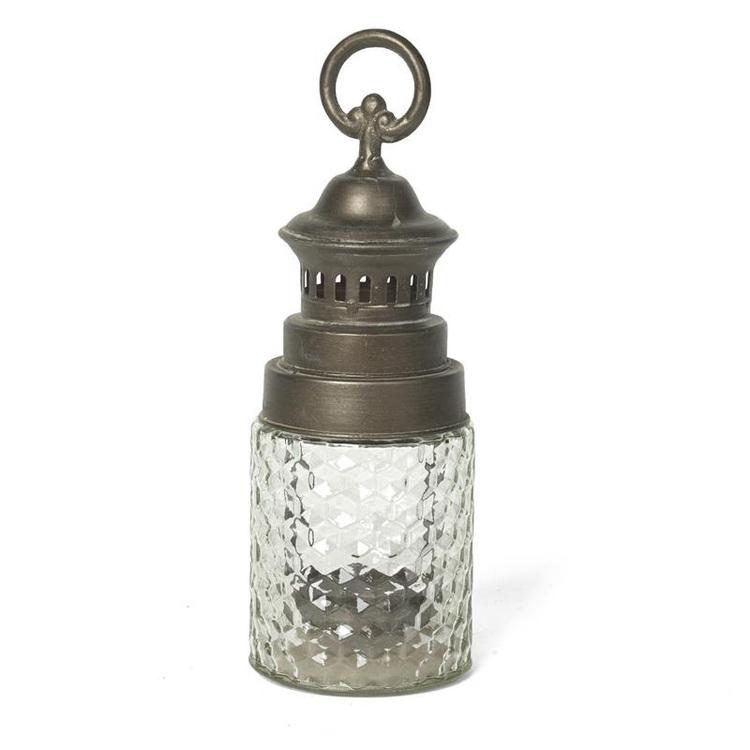 Ljuslykta med räfflat glas