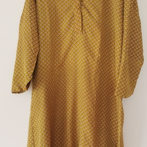 Klänning/tunika i senapsfärg