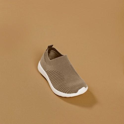 Babymocs sneakers i sandfärg
