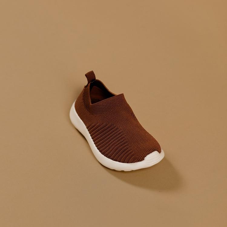 Babymocs sneakers i rostbrun