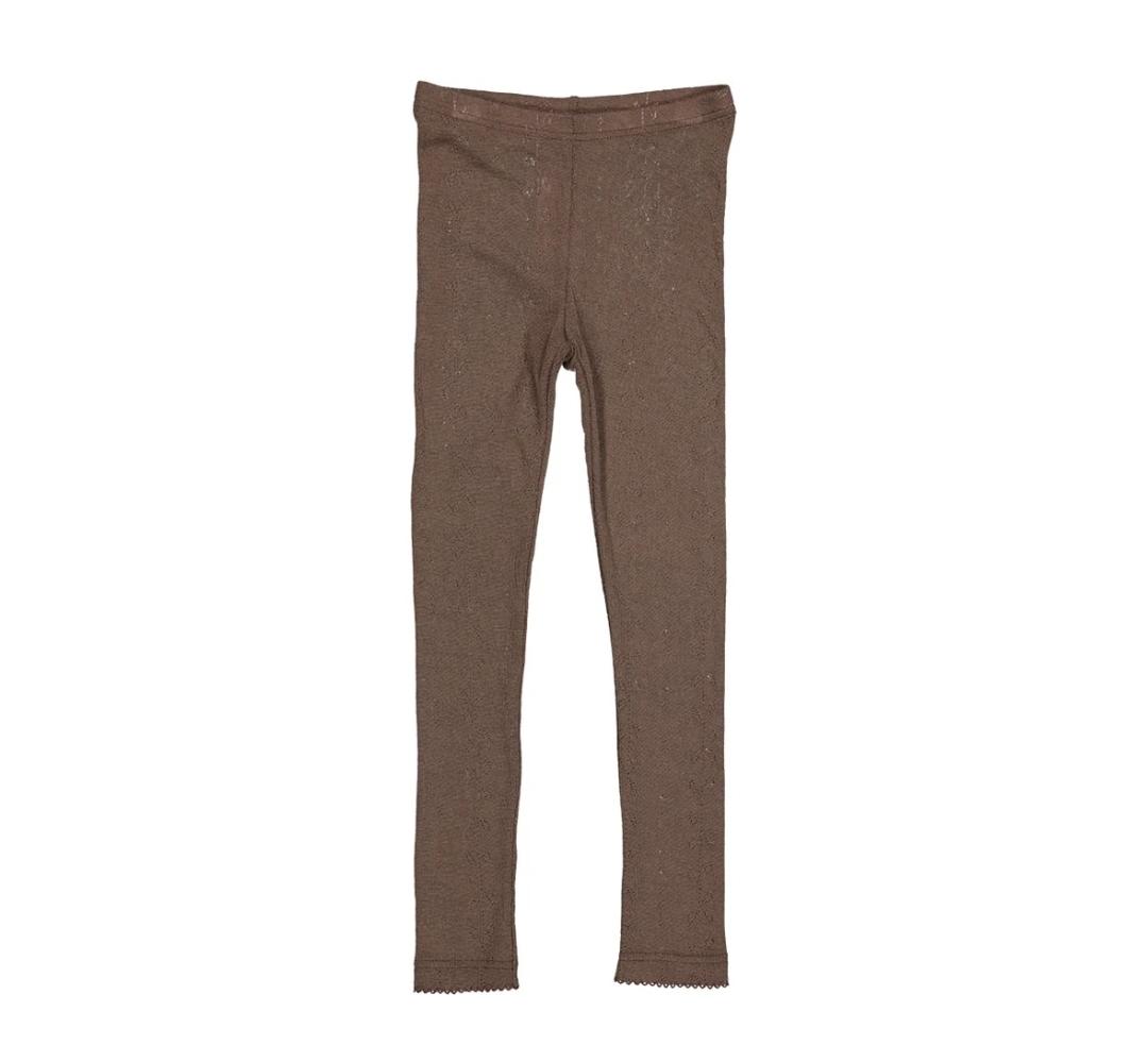 Leggings Marmar 100% ull - choklad