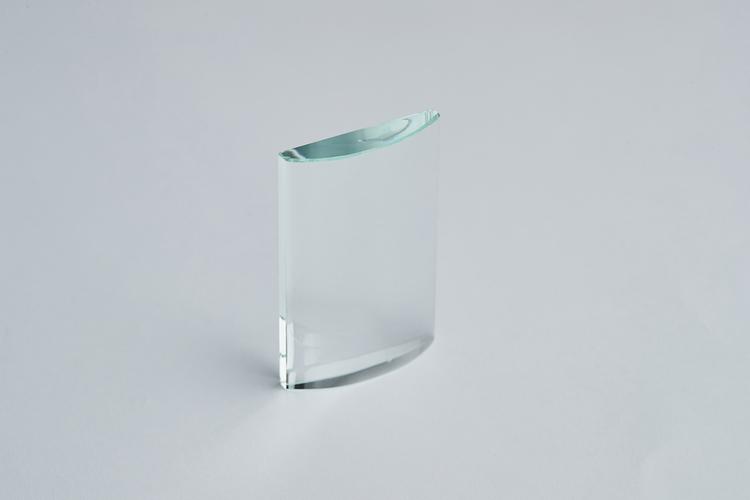 Fransplatta Glas Böjd