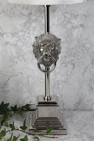 LEJON LAMPFOT - SILVER - FLERA STORLEKAR