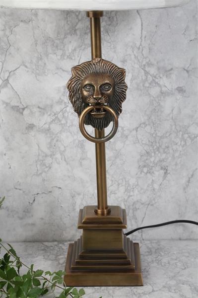 LEJON LAMPFOT - MATT GULD - FLERA STORLEKAR