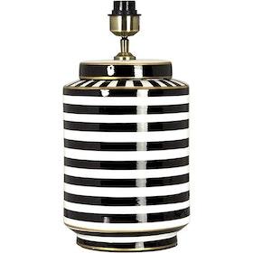 GATSBY LAMPFOT - SVART/VIT/GULD - 43 CM