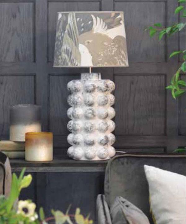 BUBBELS LAMPFOT - VIT MARMOR - 49 CM
