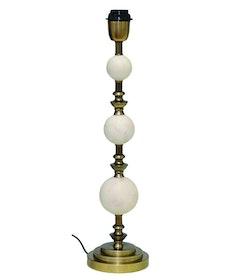 VERONA LAMPFOT - VIT MARMOR & ANTIK SILVER - 53 CM