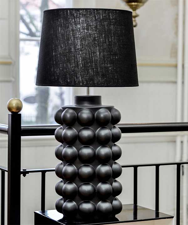 BUBBELS LAMPFOT - MATTSVART - 49 CM