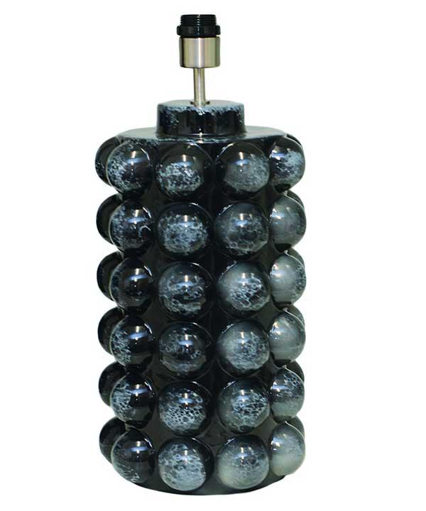 BUBBELS LAMPFOT - SVART MARMOR - 49 CM