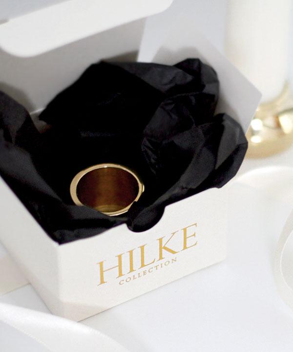 HILKE COLLECTION - LJUSHÅLLARE PICCOLO NO.2 - MÄSSING
